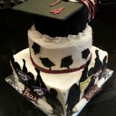Graduation Cake for Ashlyn, Becca, Natalie, and Taylor