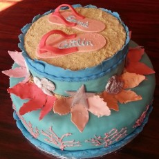 Emmie and Caitlin's Beach Cake