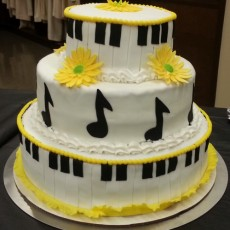Taylor's Senior Recital Cake